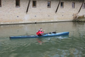 Setting off from the mill pond in Cambridge (thanks Will for the photo).