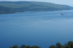 In the Sound of Mull - I'm the small dot near the centre of the frame.  (photo by Shana).